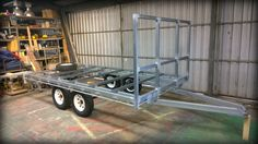 Brenton built this compact tandem trailer using our Flat Top Wide Bed trailer plans and made a few minor modifications to suit his needs. - www.trailerplans.com.au