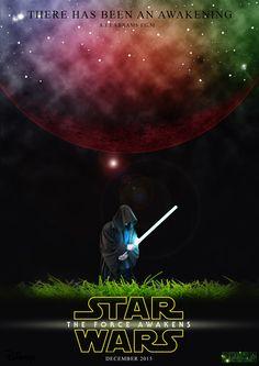 Skoleopgave i Sci-fi, hvor opgaven lød på at lave en plakat, til den kommende Star Wars film
