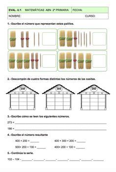 Evaluación Unidad 1 Matemáticas ABN                                                                                                                                                                                 Más Math 2, Science Activities, Teaching Math, Worksheets, Homeschool, Spanish, Classroom, How To Plan, Ideas