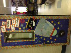 Classroom Door. Robot Theme