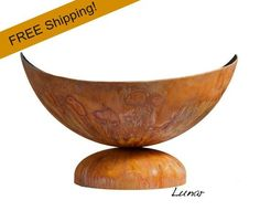 Artisan Fire Bowl - Lunar, free shipping, ohio flame, made in usa, backyard firepit fun
