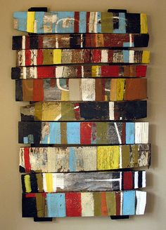 """""""This Is What We've Waited For"""" by Scott Bergey. this could be a great way to get away from canvas, for my stripes series.."""