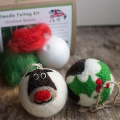 Needle Felting Kit: Christmas Baubles | The Makery