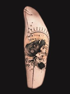 Tattoo: mix of different styles - modern and art nouveau---collecting ideas!