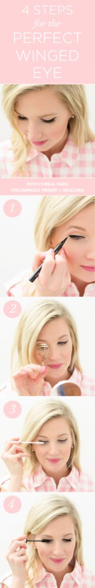 Get /abdesigns/ winged cat eye look with Superstar liner and new Voluminous Lash Primer + Original Mascara for long, thick lashes. Beauty Make Up, Diy Beauty, Beauty Hacks, Eyelash Conditioner, Blackheads On Nose, Mascara Primer, Fru Fru, Thick Lashes, Makeup Designs