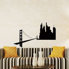 Items similar to Wall Decals San Francisco SF City Skyline Silhouette Decal Sticker Vinyl Decals Wall Decor Murals on Etsy Sticker Vinyl, Vinyl Wall Decals, Skyline Silhouette, Textured Walls, Picture Show, Murals, San Francisco, Just For You, Wall Decor