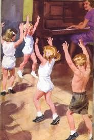 vintage ladybird books Memories of Music and Movement with vest tucked into knickers!!