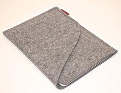 iPad Mini Wool Felt Sleeve/Case Double Pocket in Granite $31