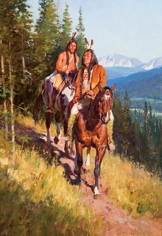Jim Norton - Down from the High Country Oil on board kp Western Comics, Western Art, Native American Warrior, Native American Images, Native Indian, Native Art, Indian Pictures, Fine Art Auctions, Le Far West