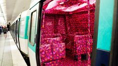 Paris subway gift wrapped for Christmas by 5 artists from Sisaprod. Source : TF1 News