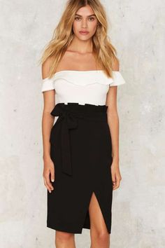 Yvonne Midi Skirt - Clothes
