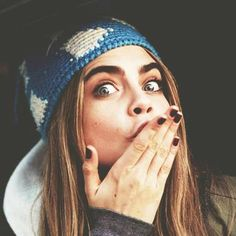 Cara Delevingne she looks like she'd be so chill i love her