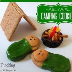 Is any edible craft cuter than the Cutest Cookie Campers? These are great kids summer activities that double as snacks for snack time!