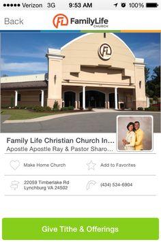 Family Life Christian Church International in Lynchburg, Virginia #GivelifyChurches