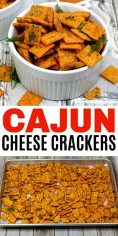 Easy Cajun Cheese Crackers – Life is Sweeter By Design Cajun Cheese Crackers are a great way to turn ordinary Cheez-Its into something flavorful and addictive. These zesty crackers make a great jar gift too! Cajun Appetizers, Crackers Appetizers, Appetizers For Party, Appetizer Recipes, Spicy Crackers, Cajun Crackers Recipe, Mardi Gras Appetizers, Homemade Crackers, Amigurumi