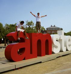 """take a picture at the """"I am amsterdam"""" letters"""