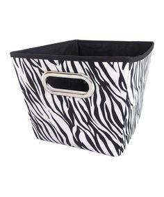 Exceptionnel Take A Look At This Black U0026 White Zebra Medium Storage Bin By Home Basics  On #zulily Today!