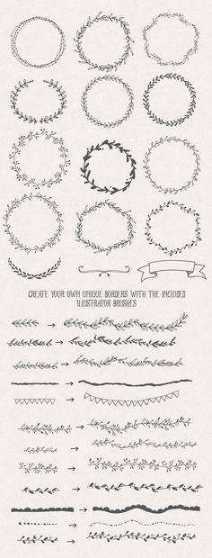 The Handsketched Designers Kit - Illustrations