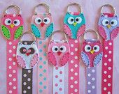 Owl Hair Bow Holder with Polka Dots -