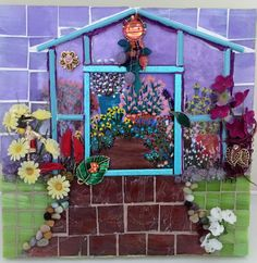 Mosaic Scene - Hidden Greenhouse by SuzanneImagineArt on Etsy