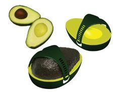 For avocado lovers - If you only want to use half an avocado at a time, this Avo Saver will keep the other half fresh longer.   It reduces a cut avocado's exposure to air, greatly slowing the destructive oxidization process. Amazon.com: Harold Import Company Avo Saver.