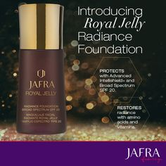 Foundation with Royal Jelly, oh yeah...they went there   https://usa.jafra.com/shop/products/20976?cid=210312&source=pws#top