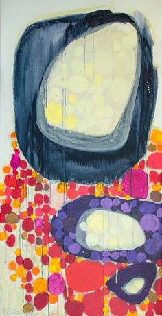 """""""By and Large"""" by Claire Desjardins. 30""""x60"""" - Acrylics on canvas."""