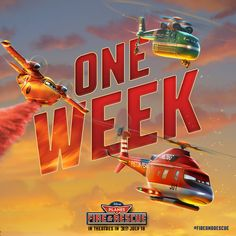 Planes: Fire & Rescue opens in theatres in 3D in 1 Week. Get your tickets for opening weekend: http://di.sn/rbD