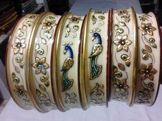 Designer Bangles, Bridal Chuda, Gold Jewelry, Jewellery, Handicraft, Suits, Bracelets, Earrings, Craft
