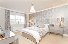 4 bedroom detached house for sale in only 3 plots remaining! Silver Bedroom, New Homes For Sale, New Builds, Detached House, Building, Interior, Wales, Furniture, Home Decor