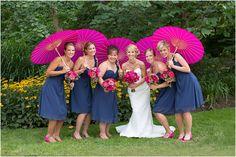 Navy & Pink Wedding