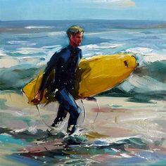 "Daily Paintworks - ""Surfer"" - Original Fine Art for Sale - © Jurij Frey"