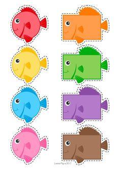 cheznounoucricri - Page 53 Fish Activities, Preschool Learning Activities, Preschool Lessons, Toddler Learning, Preschool Worksheets, Preschool Activities, Preschool Centers, Preschool At Home, Preschool Crafts