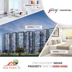 Find Your Next Indian Property Here in Hong Kong. We are Here for you. Visit our #Godrej #Properties in #India : https://www.weplanithk.com/project/godrej-properties/11/ Or Call us at 852-98101465 to fix an Appointment. We Plan It - Hong Kong - We are #RealEstate Advisory in #HongKong For #IndianProperty #Investment #Home #SecondHome #NRIInvestment