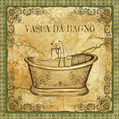 Vintage Vasca Da Bagno Digital Art by Jean Plout