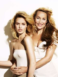 Georgia May Jagger and her mom Jerry Hall
