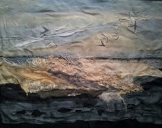 Swallows over Dunes - finished :) Laura Edgar #textile art