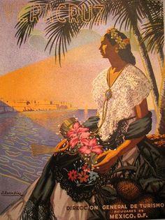1940's Veracruz Mexico Vintage Mexican Travel Poster – Vintage Poster Works: Debra Clifford