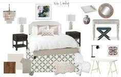 PREPPY BUDGET BEDROOM- Niki Landry Art & Design