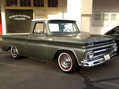 1966 Chevy Truck short bed, and a 65 short bed Custom Cab big window, and a 64 Custom Cab long bed.