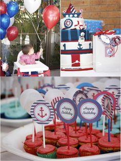 A 1st Birthday Nautical Party - BirdsParty.com