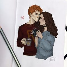 Ron and Hermione by Pandora Heroine