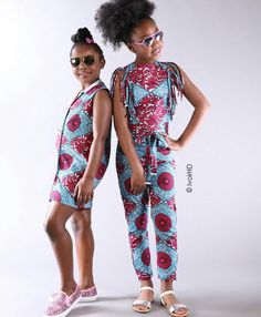 kids in print See Her Unique Ankara Style - Reny styles Ankara Styles For Kids, Unique Ankara Styles, African Dresses For Kids, African Children, Kids Fashion Boy, Toddler Fashion, Girl Fashion, Style Fashion, Fashion Dresses