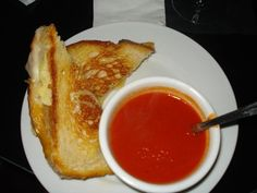 The perfect lunch: grilled cheese and Tomato soup from Cole's LA!