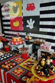 What a great Mickey Mouse birthday party! See more party ideas at CatchMyParty.com!