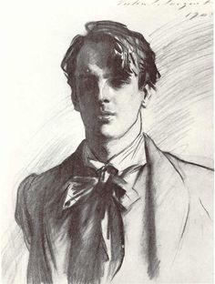 """William Butler Yeats"" by John Singer Sargent    Yeats' poetry inspires, enchants and delights my solitude. Also, he was a stone cold fox."