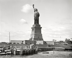 Statue of Liberty, New York Harbor circa 1905.