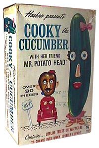 Cooky Cucumber with her friend Mr. Potato Head-Hasbro-1964