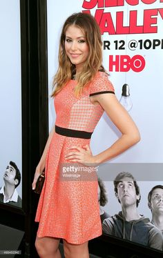 Actress Amanda Crew arriving at HBO's 'Silicon Valley' Season 2 Premiere at the El Capitan...