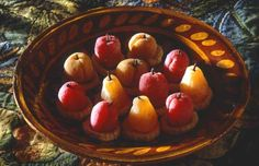 sixteenth and seventeenth century recipes... 'Artificial Fruit' from pippin and apricot paste